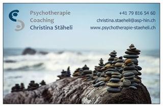 Bild Praxis für Psychotherapie & Coaching Christina Stäheli