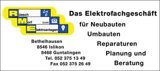 Bild Rüesch + Morf GmbH Elektroanlagen