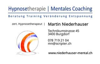Immagine Martin Niederhauser, Hypnose und mentales Coaching