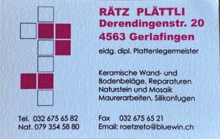 Photo Rätz Plättli