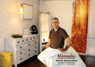 Immagine Manualis, Massage-Praxis & Sauna, Patrick Zimmermann, Diessenhofen